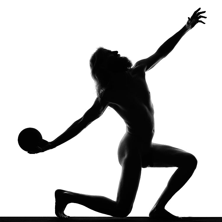 Silhouette With Ball