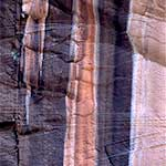 Water Stained, Cross-Bedded Sandstone